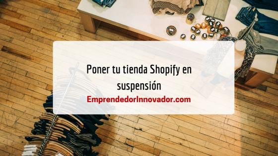 Shopify en suspensión