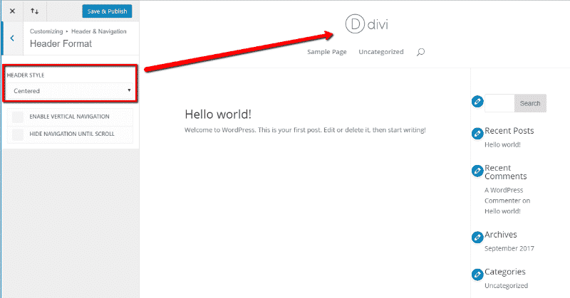 Personalizador de WordPress para personalizar Divi